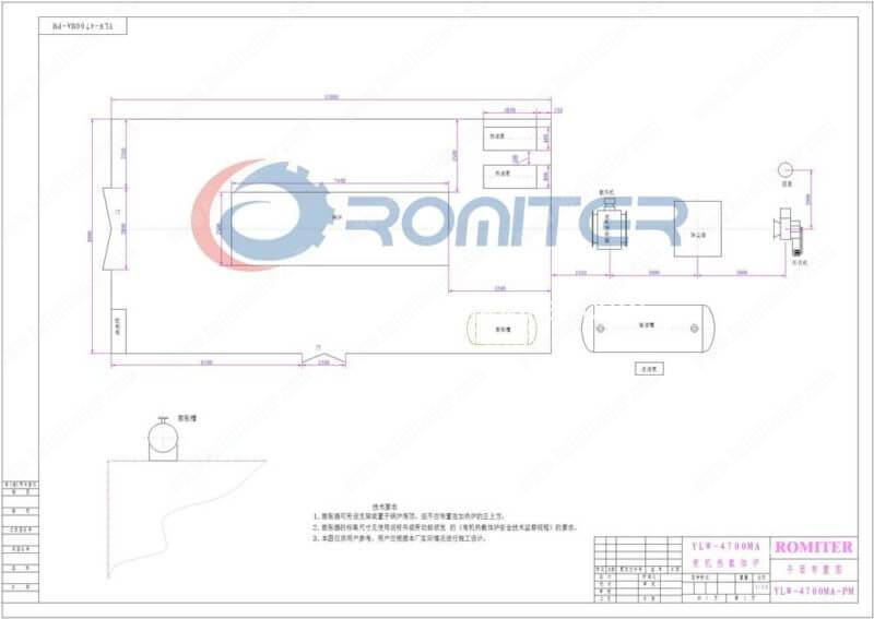 4.7MW-Chain-Grate-Coal-Fired-Thermal-Oil-Boilers-Layout-Drawing