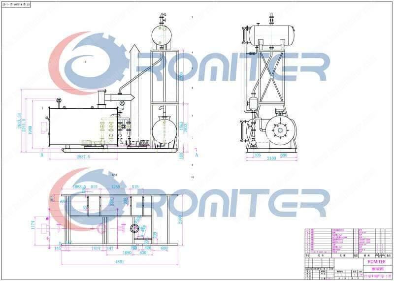 Skid-Mounted-Natural-Gas-Fired-Thermal-Oil-Heater-System-Drawing