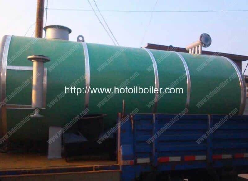 700KW Horizontal Natural Gas Fired Thermal Oil Boilers