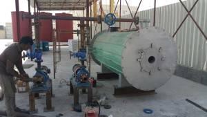 400000Kcal Diesel Oil Fired Thermal Oil Boiler Installation in Bahrain