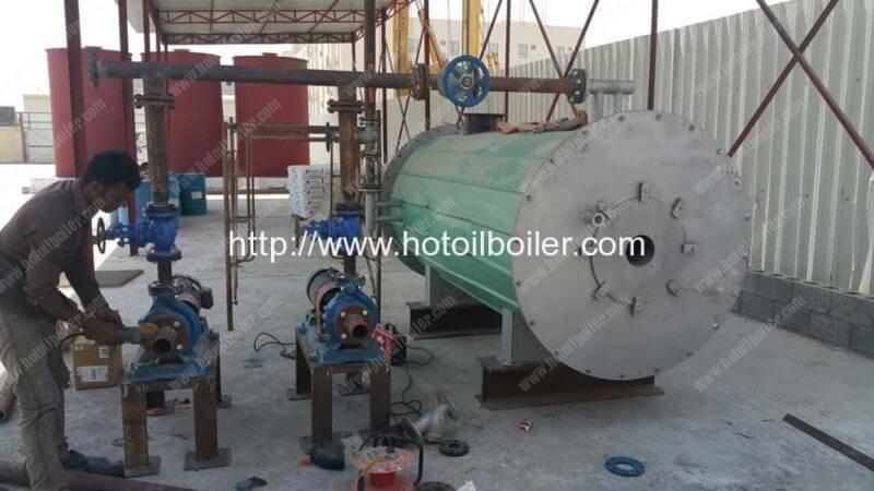 400000Kcal-Diesel-Oil-Fired-Thermal-Oil-Boiler-Installation-in-Bahrain