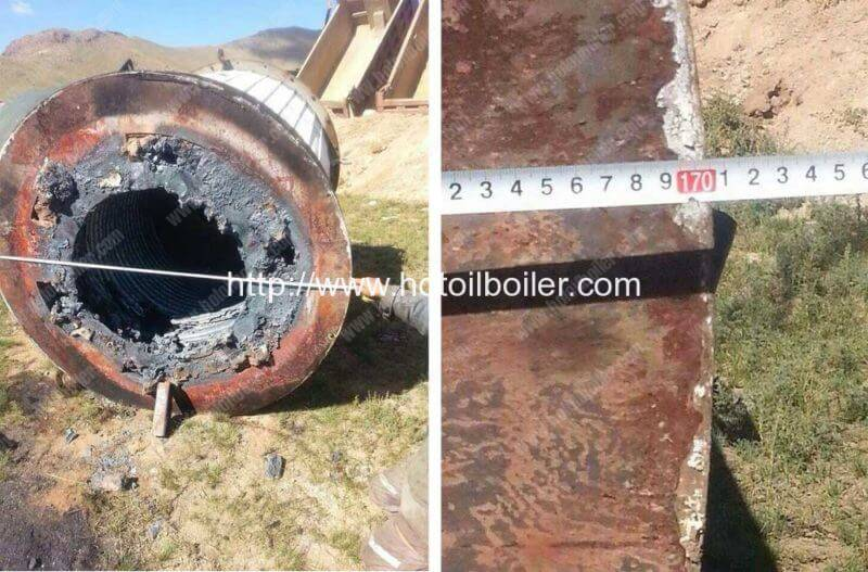 Mongolia Customer Order YGL-350F Coal Fired Thermal Oil Heaters