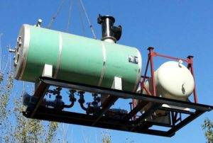 Skid Mounted Diesel Fired Thermal Oil Heater Delivery for Russia Customer