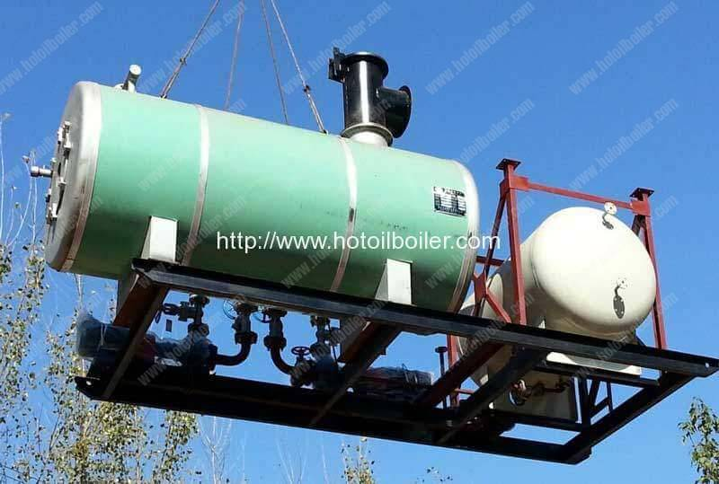 skid-mounted-movable-diesel-fired-thermal-oil-heater-delivery-for-russia-customer