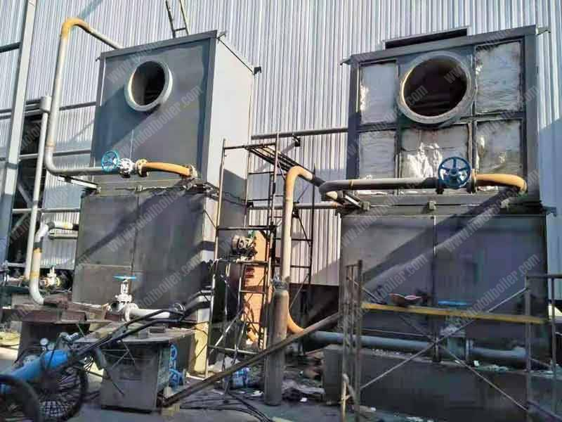 Flue-Gas-Waste-Heat-Recovery-Thermal-Oil-Heater-Installation